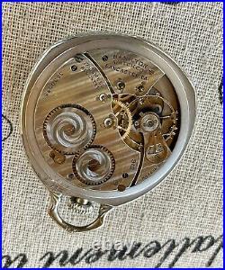 1924 Scarce Hamilton Van Buren 912, Mdl 2, 17j, Pocket Watch in 14k WGF Case