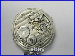 1925 Hamilton 17j 12s Model 2 Grade 912 Open Face Pocket Watch 14k GF Case