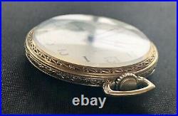 1927 Hamilton 922, 23j, 12s Pocket Watch In Rare 14k Green GF Factory Case