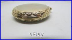 1928 Elgin BW Raymond RR Pocket Watch Montgomery Dial and Unusual 10K GF Case