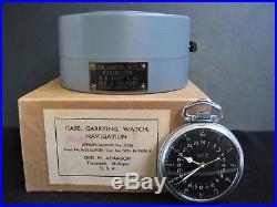 1941 Hamilton WWII Navigation pocket watch, GCT, 4992B, Military Army, plus case
