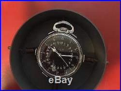 1942 Hamilton GCT 22j WWII 4992B Military Army Navigation Pocket Watch and Case