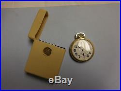 1950 Hamilton 992B RR Pocket Watch with Original Tan Cigarette Box Case Bakelite