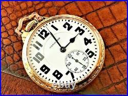 1951 Hamilton 992B Railroad Pocket Watch 21j. 16s. 10K G. F. BOC Case SERVICED
