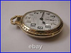 1951 Hamilton 992 Railway Special Pocket Watch 14k Gf Boc Bar Over Crown Case