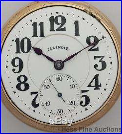 21J 60HR Sixty Hour Bunn Special Case Illinois Railroad Antique Pocket Watch