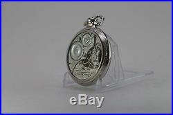 21 Jewels Salesman Display Back Pocket Watch ILLINOIS Bunn Special Case RailRoad
