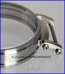 47mm ACCIAIO INOX OPACO CASE per Inserto Meccanismo orologi MOSER NARDIN OMEGA &