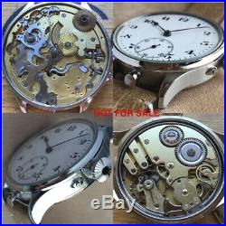 49 mm NEW STAINLESS STEEL POLISHED CASE + CROWN Pocket Watch Movement