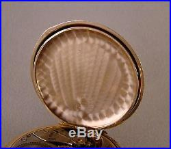 97 YEARS OLD ELGIN 14k GOLD FILLED HUNTER CASE GREAT LOOKING POCKET WATCH