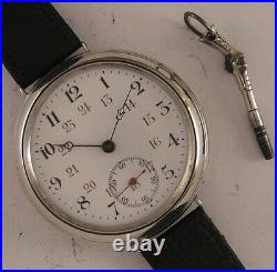 AMAZING CASE Cylindre 150 Years Old Antique Swiss Wrist Watch Perfect Serviced