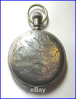 AMERICAN WALTHAM WATCH Co Coin Silver Pocket Watch Mid 1800's Hunters Case