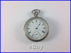 AMERICAN WATCH CO POCKET WATCH, BOND St. 14s, 7J, Coin Silver Case