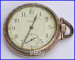 Amer Waltham Riverside Maximus #12509047 23j 1okt White Gf Case Model 1899