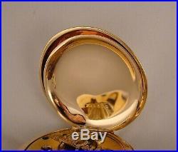 ANTIQUE ELGIN B. W. RAYMOND 14k GOLD FILLED HUNTER CASE FANCY DIAL 18sPOCKET WATCH