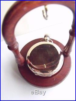 ANTIQUE OMEGA POCKET WATCH 10ct GOLD FILL DENNISON CASE SERVICED c1916