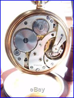 ANTIQUE /VINTAGE GOLD FILL MASONIC POCKET WATCH 15 JEWELS FWO screw case