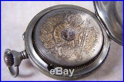 A JOVIS NICKEL CASED 8 DAY POCKET WATCH c. 1910 NEEDS A SERVICE