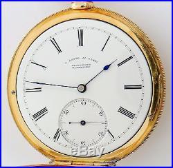 A Lange & Söhne pocket watch, 20 jewels, 18K gold case, antique rf22176