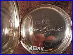 A. Lange & Sohne Glashutte B/Dresden Silver case fancy hands nice running