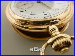 A. Lange & Sohne Glashutte Vintage 27 Size 14K Rose Hunting Case Pocket Watch