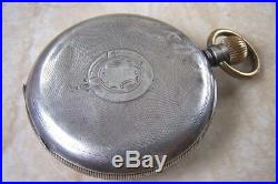 A SILVER CASED 8 DAY POCKET WATCH c. 1929 FOR REPAIR