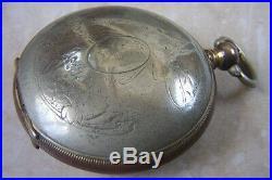 A TURKISH HUNTER CASED POCKET WATCH c. 1890 NEEDS A SERVICE