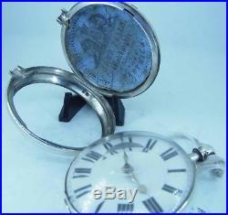A Working Silver Pair Case Verge Fusee 1848 Price of Kennington Pocket Watch