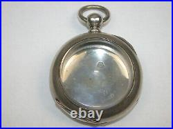 American 18 Size Massive 4 Ounce Coin Silver Pocket Watch Case. 2A