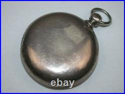 American Coin Silver 4 Ounce 18 Size Key Wind Pocket Watch Case. 1C
