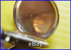 American Waltham 1905 Pocket Watch 6s 15 Jewel Double Hunter Cashier Case