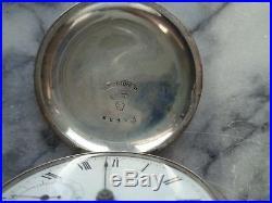 American Waltham Watch Co. Broadway Model Coin Silver Case circa 1883