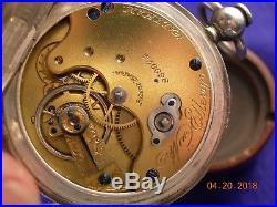 American Watch Co 10 Size Keywind/Original Coin Silver Case