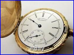 Antique 14K Gold Filled American Waltham Pocket Watch Criterion Hunters Case 6S