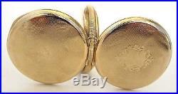 Antique 14K Solid Gold WALTHAM Pocket Watch, 16S, 15J, Hunter Case, Run, 84 Grams