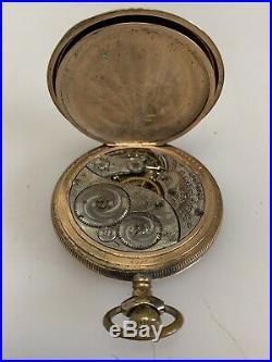 Antique 14 kt Gold-Filled Pocket Watch Elgin Hunter Case 15 Jewels