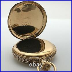 Antique 1886 Elgin Pocket Watch 11J Grade 94 6s 14k Solid Gold Hunter Case
