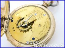 Antique 1888 Gold Filled American Waltham Hunter Case Pocket Watch Works
