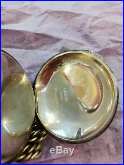 Antique 1889 American Waltham Silver Pocket Watch Double Hunter Case 18s 4025988