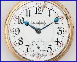 Antique 1899 Illinois 24 Ruby Jewel 18s Bunn Special in Philadelphia 25yr Case