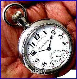 Antique 18 Size 21 Jewel Display Case Railroad Pocket Watch Hamilton 940