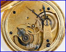 Antique 18s 15j E. Howard & Co. Series III Pocket Watch in 18k Solid Gold Case