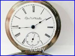 Antique 1900 Elgin Size 18s Pocket Watch Keystone Double Hinged Case Runs Great