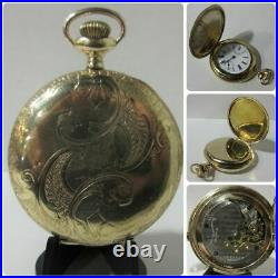 Antique 1906 New York Standard 7j 6s Gold Filled Hunter Case Pocket Watch