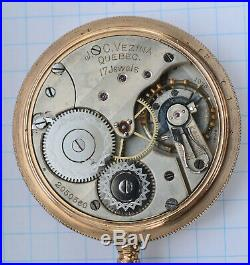 Antique 1907 LONGINES cal 19.75 QUEBEC Private Label Pocket Watch OF Case RUNS