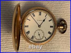 Antique 1912 ELGIN Star Dennison GF HUNTING CASE POCKET WATCH 7 Jewels Size 16s