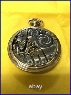 Antique 1916 Elgin Pocket Watch, 16 Size, 17j, 3 Finger Bridge, Gf Case, Extra Fine
