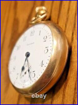 Antique 1916 Waltham Size 18 15 Jewels 10k gold filled case Pocket Watch