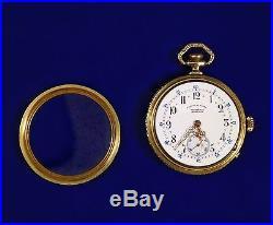 Antique 19th Century A Lange & Sohne Glashutte Pocket Watch Gold Skeleton Case