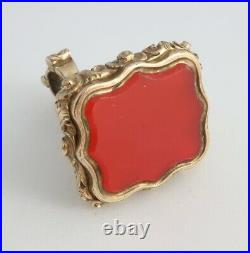 Antique 19th Century Victorian Gold cased Wax seal pocket watch chain fob